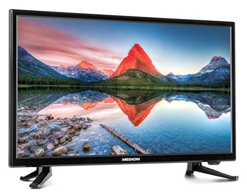 MEDION LIFE P12312 MD 31211 80 cm (31,5 Zoll HD) Fernseher (LCD-TV mit LED-Backlight, Triple Tuner, DVB-T2 HD, HDMI, CI+, USB, Mediaplayer, integrierter DVD-Player) schwarz