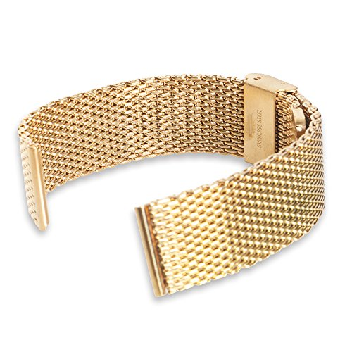 nextany® Universal 22mm Edelstahl Uhrenarmband Armband für Samsung Gear 2Bremsleuchte/Rücklichtbirne R380Bremsleuchte, Rücklichtbirne R381R382, LG G Watch W100, Armbanduhr LG G R W110, LG G Watch Urbane W150