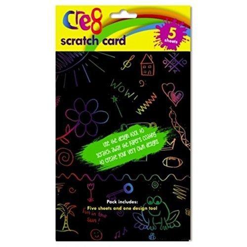 g Kinder A5 Kratz Kunst Karten Handwerk Zeichnen Aktivität Regenbogen (Handwerk Aktivitäten Für Kinder)