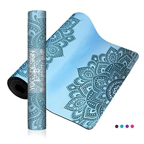 Yoga Design Lab Infinity Yogamatte 5mm | Umweltfreundlich, gepolstert und Anti-rutsch, bietet einzigartigen Halt | mit Tragegurt (Mandala Aqua)