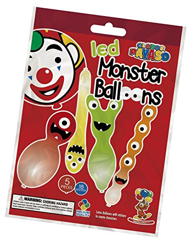 Unbekannt Monster Balloons with Light up LED Funky Party Decoration