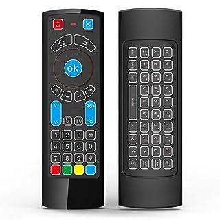 Gowell Bluetooth-Fernbedienung, speziell kompatibel mit Amazon Fire TV und Fire TV Stick; Luft-Fernbedienung mit Tastatur, Air-Maus, kompatibel mit Android TV/Box/Windows/Raspberry Pi 3 (kein Alexa)