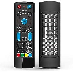 Télécommande Bluetooth GOWELL spécifique compatible avec Amazon Fire TV et Fire TV Stick - Télécommande Air et clavier QWERTY Air Mouse Apprentissage IR (pas d'Alexa)