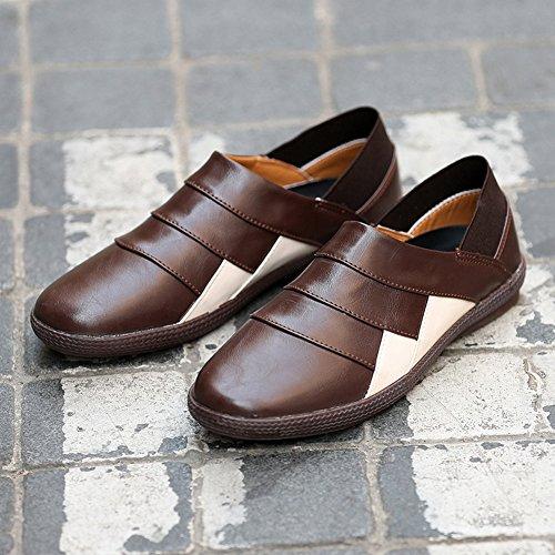 Insun , Chaussures bateau pour homme Marron