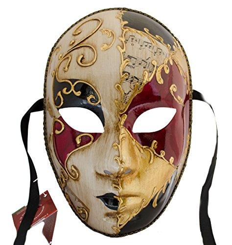 Lannakind Venezianische Maske Gesichtsmaske Volto Damen Karneval, Ballmaske, -