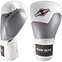 Rude Boys Rb Promax Guantilla MMA, Unisex Adulto, Blanco, M