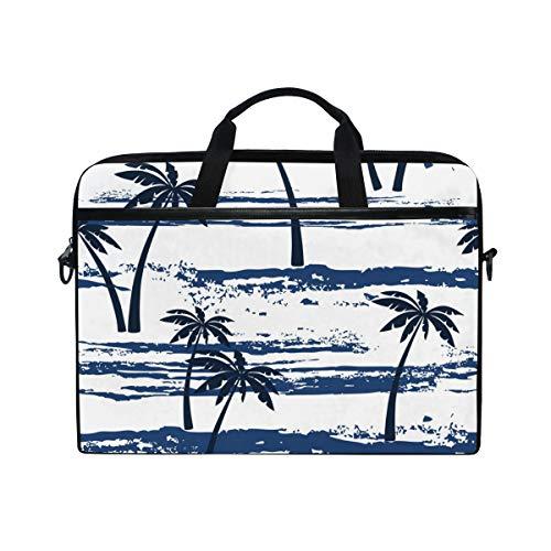 ISAOA Schöne Palmen Laptop-Tasche, leicht, Schultertasche für Laptops von 35,6-15,6 Zoll (35,6-39,62 cm) Notebook-Tasche für Reisen/Business/Schule