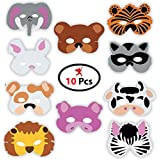 Party Propz Jungle Eyemask (10 Pieces) for Animal Eye Mask Or Jungle Birthday Decoration