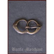 Tarde Medieval hebilla de latón, nº 3–Correa ancho: hasta aprox. 15mm
