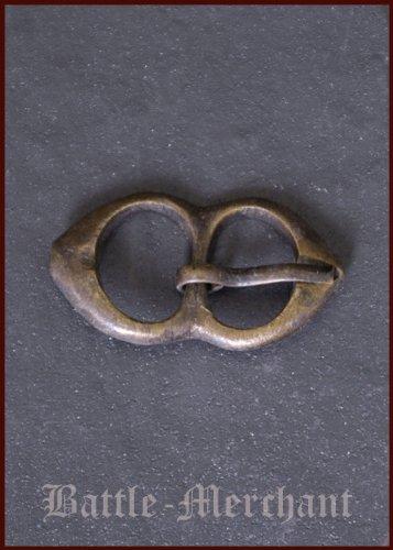 Spätmittelalter Schnalle aus Messing, Nr. 3 - Riemenbreite: bis ca. 15 mm