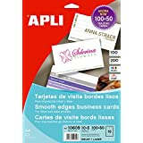 APLI 10609 tarjeta de visita - Tarjetas de visita (89 mm, 51 mm, 10 hojas, 100 pieza(s))