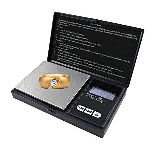 mychoose Elektronische Taschenwaage tragbar Digital Maßstab tragbare digitale Skala mit LCD-Hintergrundbeleuchtung Mini Digital Waage 500g