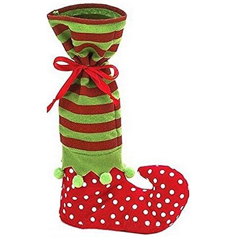 Decorazioni di Natale Bobo elfo calzino caramelle sacchetto del regalo