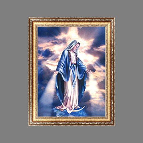 Religión DIY Juego de pintura de diamantes, pintura 5D para decoración interior, hecho a mano, bordado de punto de cruz, adornos, manualidades, lienzo para decoración de pared
