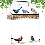 LKING Mangiatoia per Uccelli Mangiatoia per Uccelli Trasparente Alimentatore di aspirazione Mangiatoia di Grandi Dimensioni Alimentatore da Finestra