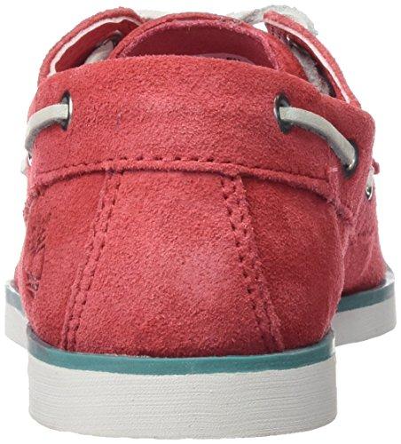 Timberland Seabury Classic 2eye Boatcardinal Hammer Ii, Chaussures Bateau Mixte Enfant Rouge (Cardinal Hammer Ii)