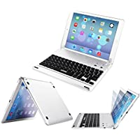 ARTECK iPad 9.7-inch (iPad 6, 2018/iPad 5, 2017) Keyboard, Ultra-Thin Bluetooth Keyboard Folio Case with Stand Groove for Apple iPad 9.7 iPad 6, iPad 5 and iPad Air 1 with 130 Degree Swivel Rotating