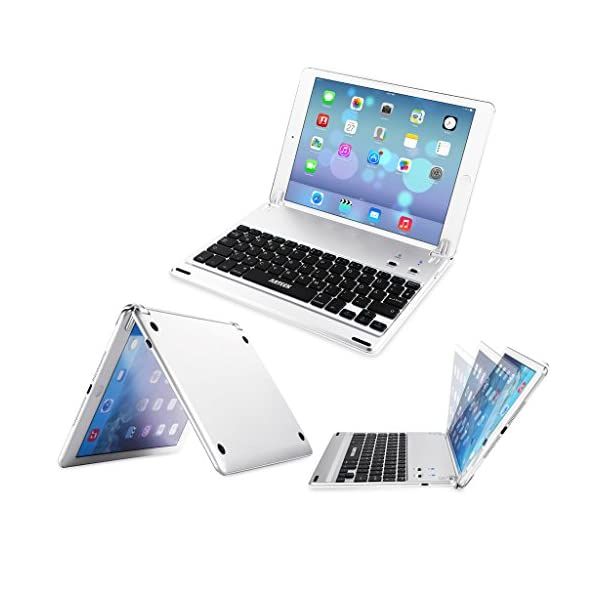 arteck ipad 9.7-inch (ipad 6, 2018/ipad 5, 2017) keyboard, ultra-thin bluetooth keyboard folio case with stand groove for apple ipad 9.7 ipad 6, ipad 5 and ipad air 1 with 130 degree swivel rotating ARTECK iPad 9.7-inch (iPad 6, 2018/iPad 5, 2017) Keyboard, Ultra-Thin Bluetooth Keyboard Folio Case with Stand Groove for Apple iPad 9.7 iPad 6, iPad 5 and iPad Air 1 with 130 Degree Swivel Rotating 51xsPYargUL