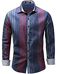 Classic Men's Striped T-Shirt Spring Autumn Hommes Casual Stylish Slim Fit Manche Longue M-3XL