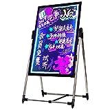 Mena UK Panneau Fluorescent éLectronique à LED, Panneau D'Affichage pour Panneau Publicitaire 108 Perles, Support en Acier Inoxydable, éCriture Lumineuse Au Tableau Noir