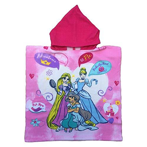 Poncho mare principesse disney rapunzel cenerentola jasmine asciugamano accappatoio microcotone cm. 110x55 - pri 1014