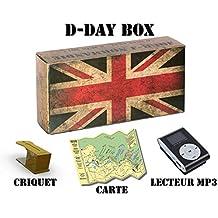 D-Day Box Audioguide plages du Débarquement (Utah, Omaha, Gold, Juno, Sword) - inclus : 3h audio + mp3 + eBook + criquet + carte (modèle drapeau GB)
