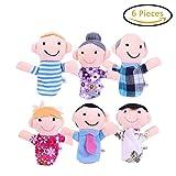 Nette 6 Stueck Familie Fingerpuppen - Menschen umfasst Mama, Papa, Opa, Oma, Bruder, Schwester Kostenlose Kabelbinder