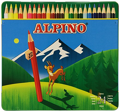 Alpino AL000758 – Lápices de colores, 24 unidades