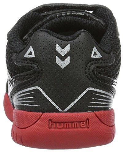 Hummel Unisex-Kinder Root Velcro Jr Hallenschuhe Schwarz (Black)