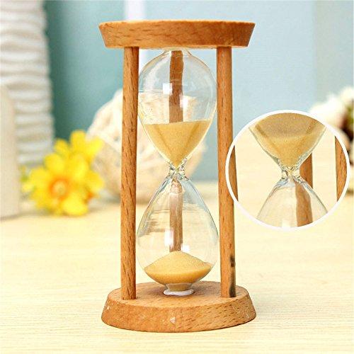 Bluelover 3 Minuten Sand Uhr Sanduhr Sanduhr Uhr Holzhaus Dekor Einzigartiges Geschenk-Küchen-Timer