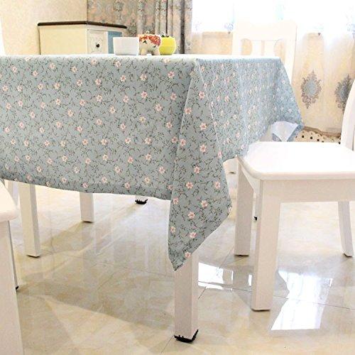 Preisvergleich Produktbild Tabgw Rechteckige Tischdecke Esszimmer Garten Hotel Cafe table cover Tuch American style Polyester Baumwolle dicke blau 130x220cm Home Decoration