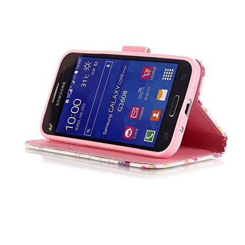 Coque pour Samsung Galaxy S6 Edge Plus, Etui pour Samsung Galaxy S6 Edge Plus, ISAKEN Peinture Style PU Cuir Flip Magnétique Portefeuille Etui Housse de Protection Coque Étui Case Cover avec Stand Sup Fleur de la Tour Eiffel