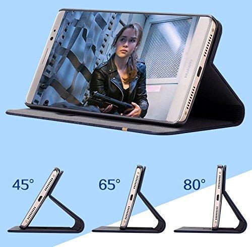 FebeloTM Branded Professional Design Customised Perfect Fitting Video Stand View Flip Cover Case for Lenovo Vibe K5 Plus / Lenovo Vibe K5 – (Brown Black Color)