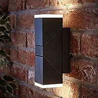 Biard Applique Murale LED 13W Ziersdorf Éclairage Bi-Focal Haut Bas  Ajustable Design Carré Noir 2cb513fcd408