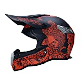 WZFC Crosshelm Motocross Enduro Downhill Helm Motorradhelm Integralhelm (Model-Guard),S