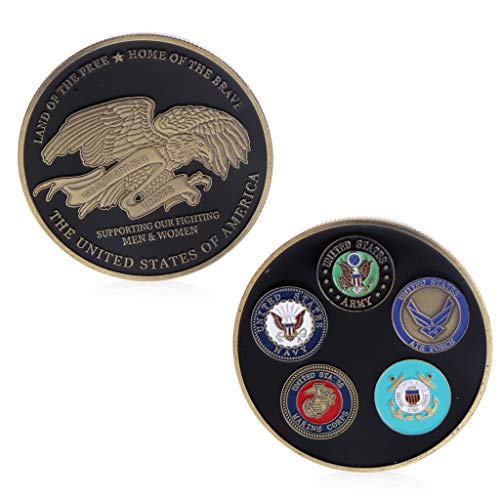 cicianco Commemorative Coin Collection Art Plating Free Marine Corps Black American Army Craft Decor