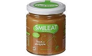 Smileat, Potito de fruta para bebé (Pera y manzana) - 230 gr.