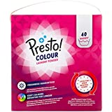 Marca Amazon - Presto! Detergente color en polvo, 120 lavados (3 Packs, 40 cada uno)