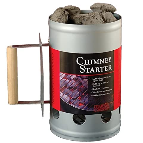 Charcoal Companion Chimney Starter, Silver, 16.79 x 27.1 x 27.51 cm