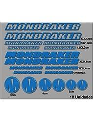 PEGATINAS MONDRAKER R51 STICKERS AUFKLEBER DECALS AUTOCOLLANTS ADESIVI (AZUL)