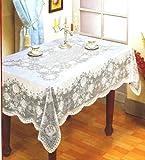 "Vinyle Lace Table Cloth - Rectángulo - 54 ""x 72"" aprox"