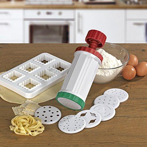GOURMETmaxx Nudelmaschine Express Pasta Set 10-TLG.mit Rezeptheft, weiß/rot