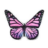 JW Schmetterlingskissen in 3D, super weich, handgefertigt, bedrucktes Kissen für den Außenbereich, rose, 13x15 Inch