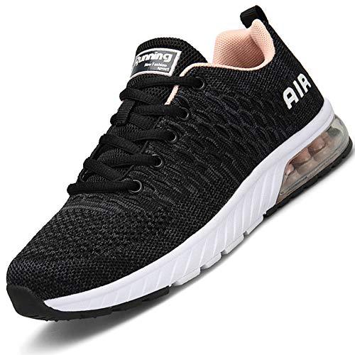Mabove Laufschuhe Herren Damen Turnschuhe Sportschuhe Straßenlaufschuhe Sneaker Atmungsaktiv Trainer für Running Fitness Gym Outdoor(Grau.P/HK82,41 EU)