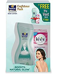 Parachute Advansed Soft Touch Body Lotion, 400ml with Free Veet Hair Removing Cream, 50g