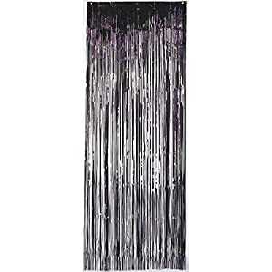 Amscan International 24200-10 - Cortina de Puerta (91 x 2,43 m), Color Negro