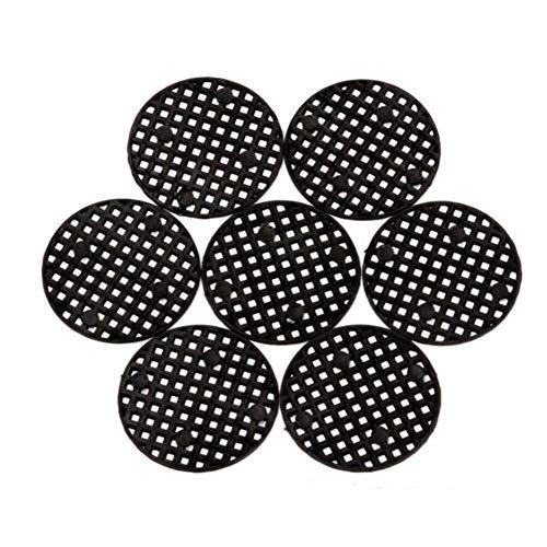 Sue-Supply 50 Stück Blumentopf Loch Mesh Pad-atmungsaktive Dichtung Bonsai Pot Bottom Grid Matte Für Bodenverlust Verhindern Und Korrosionsschutz Atmungsaktive Dichtung Drainage Netting Bottom Grid