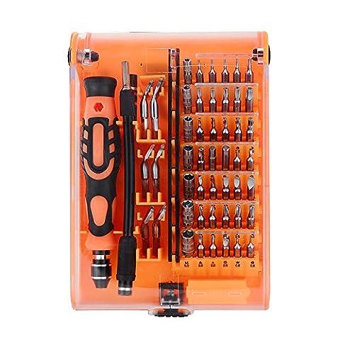 Kit Tournevis LINTELEK 52 en 1 Précision Outil Réparation Embouts, Kit de Pilote magnétique, Kit de Tournevis, Tournevis de Précision Aimanté, Kit de Réparation de Mtériel Electronique , Set de Tournevis de Précision, Tournevis Smarphone, PC, Tablette,Macbook, Montre, etc.