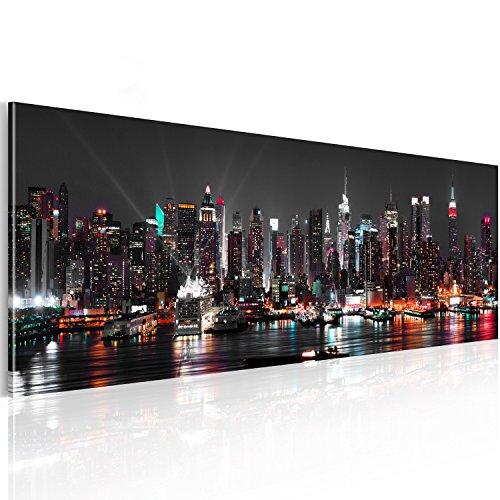 murando - Acrylglasbild New York 135x45 cm - Glasbilder - XXL - Skyline NY Stadt City