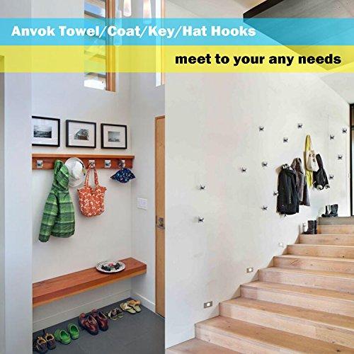 Anvok ganchos toalleros adhesivos 4 piezas colgador llaves for Ganchos adhesivos para pared